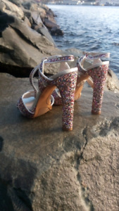 Size 6.5 nine west sparkly shoes