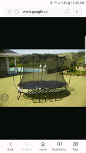 1 YEAR OLD SPRINGFREE TRAMPOLINE 8FT X 11FT