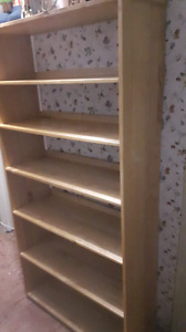 Two wooden shelves