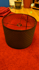 Black and gold IKEA lampshade