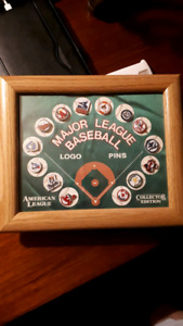 American league logo pins