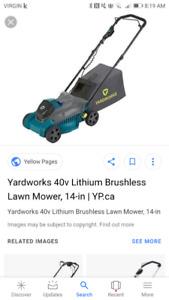 yardworks  battery mower!