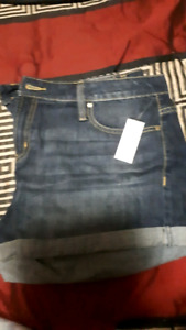 Womens jean shorts size 16