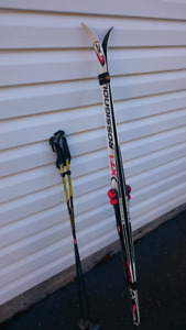 Junior Cross-country Skis, boots and poles