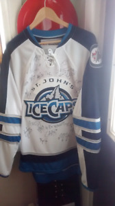 2015 Autographed Ice Caps jersey