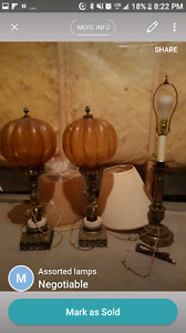Assorted light/lamps