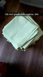 Wedding Napkins, table clothes, cutting boards, knives, baskets