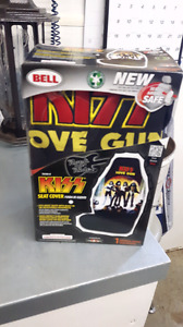 Kiss seat cover.