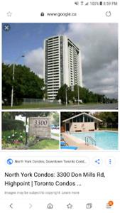 2 rooms in condo for rent nearby Seneca collage in condo