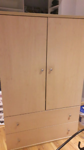 Armoire Dresser with 2 Drawers
