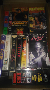 Box of vhs movies