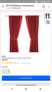 Rideaux rouge/ red curtains