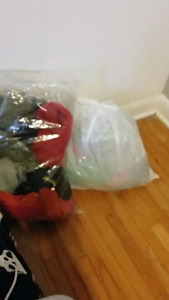 Two bags of women's clothes