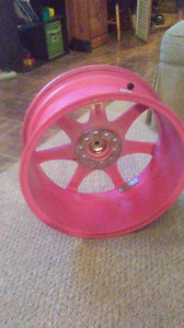 "Pink rtx rims 17""  universal five bolt"