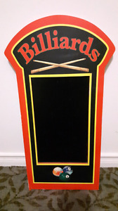 Billiards Chalkboard