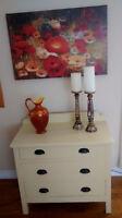 Antique Wood 3 drawer dresser ..... Refinished