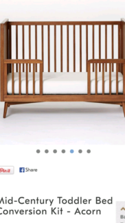 Mid Century Toddler Bed Conversion Kit & Mattress BRAND NEW  Wavell Heights Brisbane North East Preview
