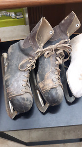 2 pairs of old skates