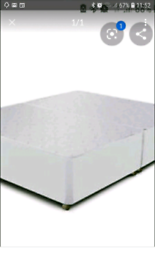 Double divan base never used packaged can deliver