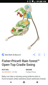 Fisher Price Rainforest Infant Swing & Bouncy Chair