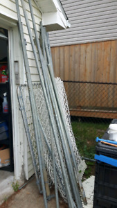 5ft high cain link fence.