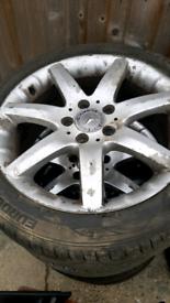 4 Tyres & Rims 225 - 45 - 17 Mercedes Wheels