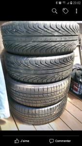 5 pneus d'été très bons 150 pour les 5