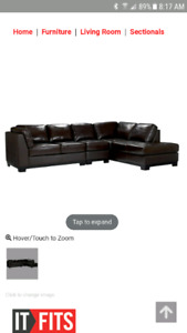 Genuine leather sectional $1500