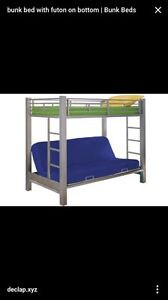 Bunk bed double futon