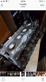 St170 Ford Focus cylinder head 90k comes with cams and pulley rocket cover lifters