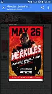 2 MERKULES TICKETS FOR TONIGHT'S SHOW