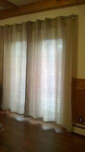 Patio Door Curtains Light Beige