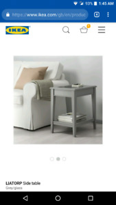 Looking for a IKEA Liatorp side table in grey