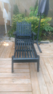 Wood out door lawn chair