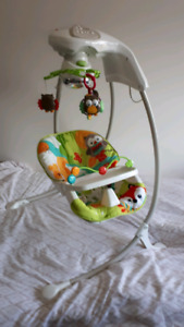 Fisher Price Woodland Friends Musical Baby Swing