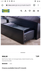 Great condition MALAM IKEA double bed