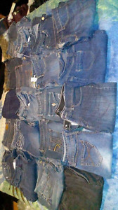 Selling bag full lady's jeans with Jean jacket and sweat pants