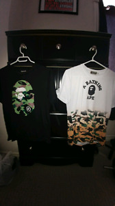 """A Bathing Ape"" T-Shirts (40$)"