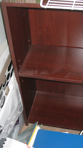 2 short book shelves
