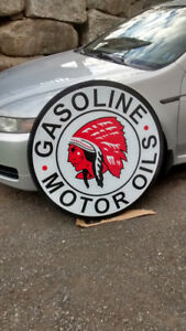 OLD SCHOOL GASOLINE AND OIL SIGNS
