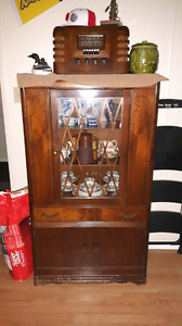 Antique walnut China Cabinet $100