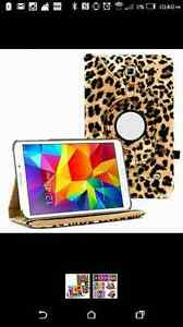 "Leopard rotating tablet case for Samsung galaxy tab 4 8"" inch"