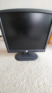 Dell monitor, keyboard, speakers set, mouse