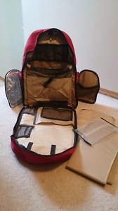 Okkatots - Travel Diaper Backpack - red