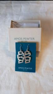 Amos Pewter Earrings