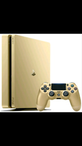 Limited edition 1tb gold PlayStation 4