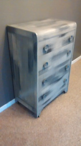 Refinished chic rustic dresser