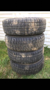 Mud and snow tires with rims