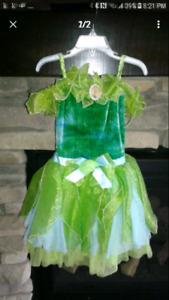 Little girl Disney princess tinker bell costume dress up Minnie