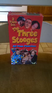 $1.00 for 2 VHS Tapes of the 3 Stooges Windsor Region Ontario image 1